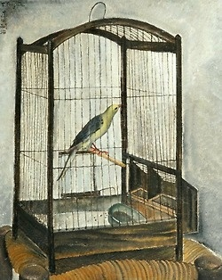 stilllifequickheart:    Tsuguharu Foujita  The Birdcage  1917