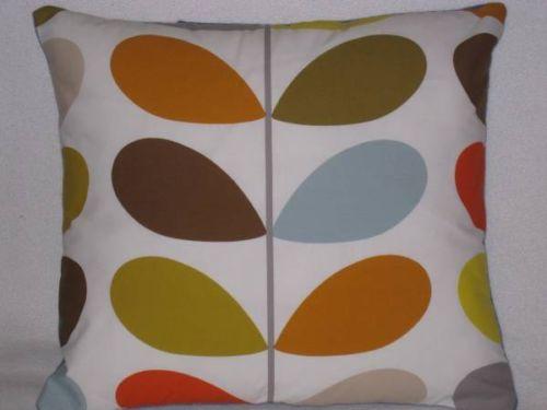 Handmade cushion made of Orla kiely Multi Stem Retro Fabric + BN Cushion pad