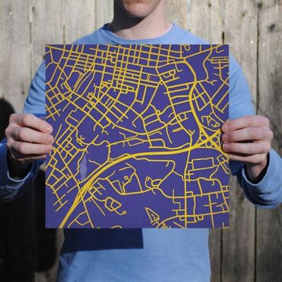 James Madison University | City Prints Map Art