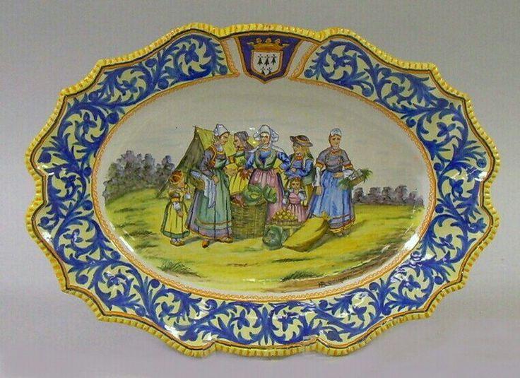 Henriot Quimper oval platter