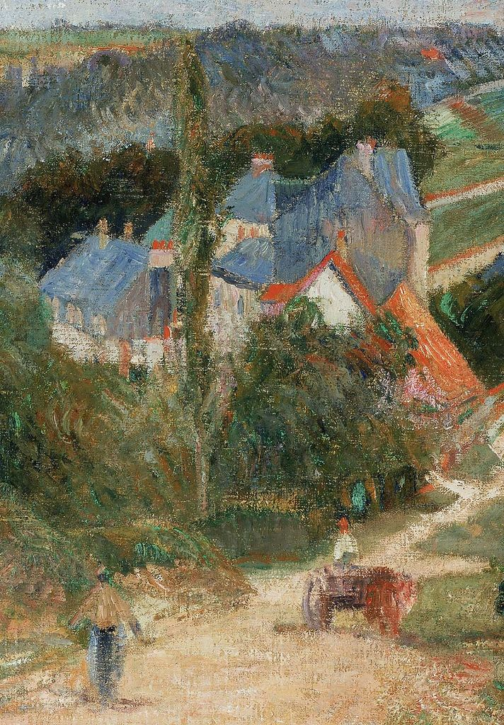 Paul Gauguin - Entrance to the Village of Osny (Detalle), 1883