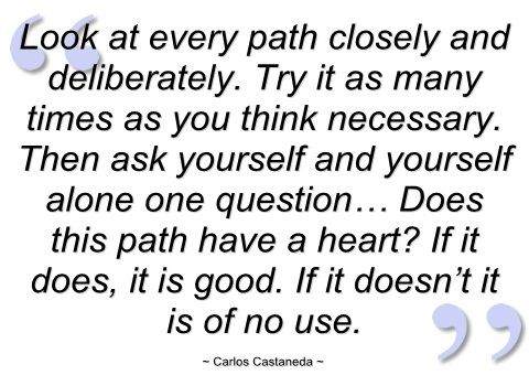 Look At Every Path - Carlos Castaneda - (motivationalquotesabout)