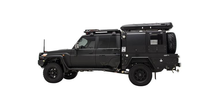 Based on a very capable offroad platform with V8 turbo diesel power, the LC79 has been taken by Patriot Campers to a whole new level in style.