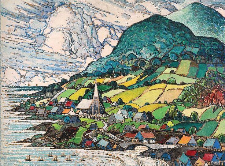 Marc-Aurèle Fortin, Quebecois, (1880-1970): Grande Vallée