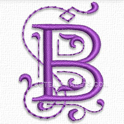 55 best embroidery tips images on pinterest embroidery machines this free embroidery design is from cute embroiderys purple alphabet its the letter b spiritdancerdesigns Choice Image