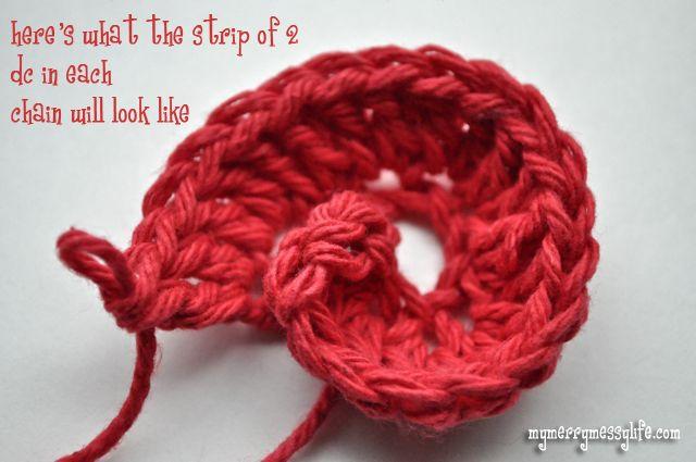 crochet rosette or rose bud free crochet pattern