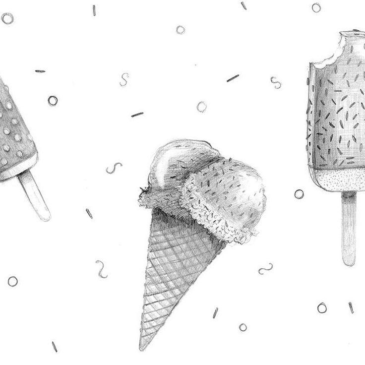 """wyjątkowo """"pyszna"""" grafika  - Lody rysunkowe  http://cottonbee.pl/tkaniny/dla-dzieci/6467-lody-rysunkowe.html"""