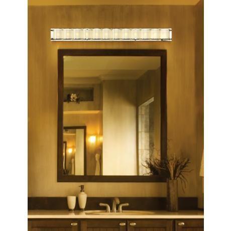 European Bathroom Vanity Lights : Possini Euro Design Glass Bands 45