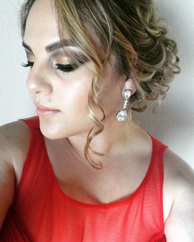 Military ball hair and makeup 💄