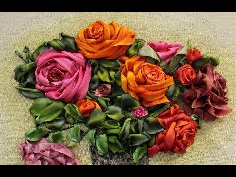 ШКОЛА ВЫШИВКИ ЛЕНТАМИ Татьяны Шелиповой: БОКОВАЯ РОЗА / How to Make Ribbon ROSE - YouTube