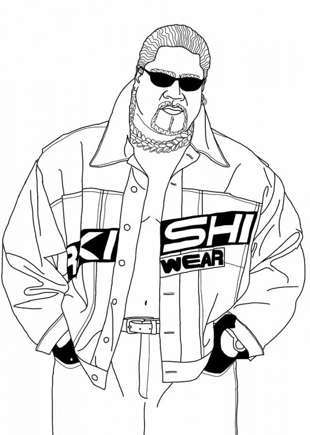 Rikishi Wwe Coloring Pages Coloring Pages Coloring Pages For Teenagers