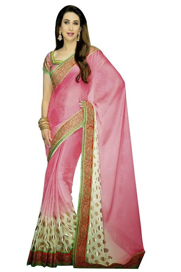 Buy fabulous pink karishma kapoor saree