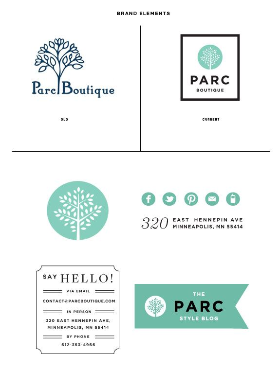 Parc Boutique Goes Online! | { wit + delight }: Teal Color, Logos Ideas, Logos Design, Logos Boutiques, Parc Branding El, Graphics Design, Branding Shops, Park Shops, Branding Elements