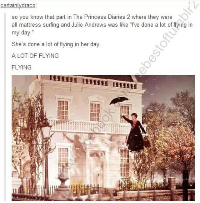 I see what you did there Julie Andrews. ;)