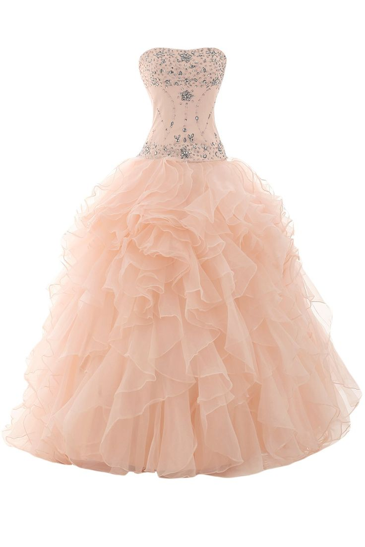 Sunvary Organza Ball Gown Skirt Prom Gowns Quinceanera Dresses Evening Gowns Long | Amazon.com