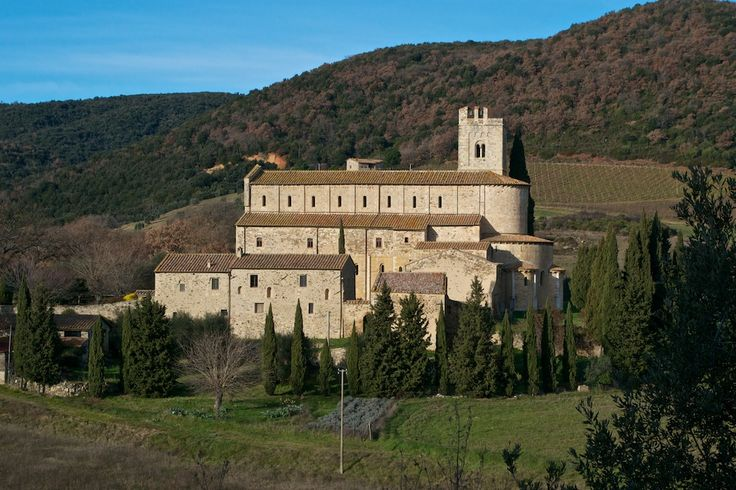 In Sant'Antimo abbey, not far from Montalcino, you can hear the monks singing gregorian chants.