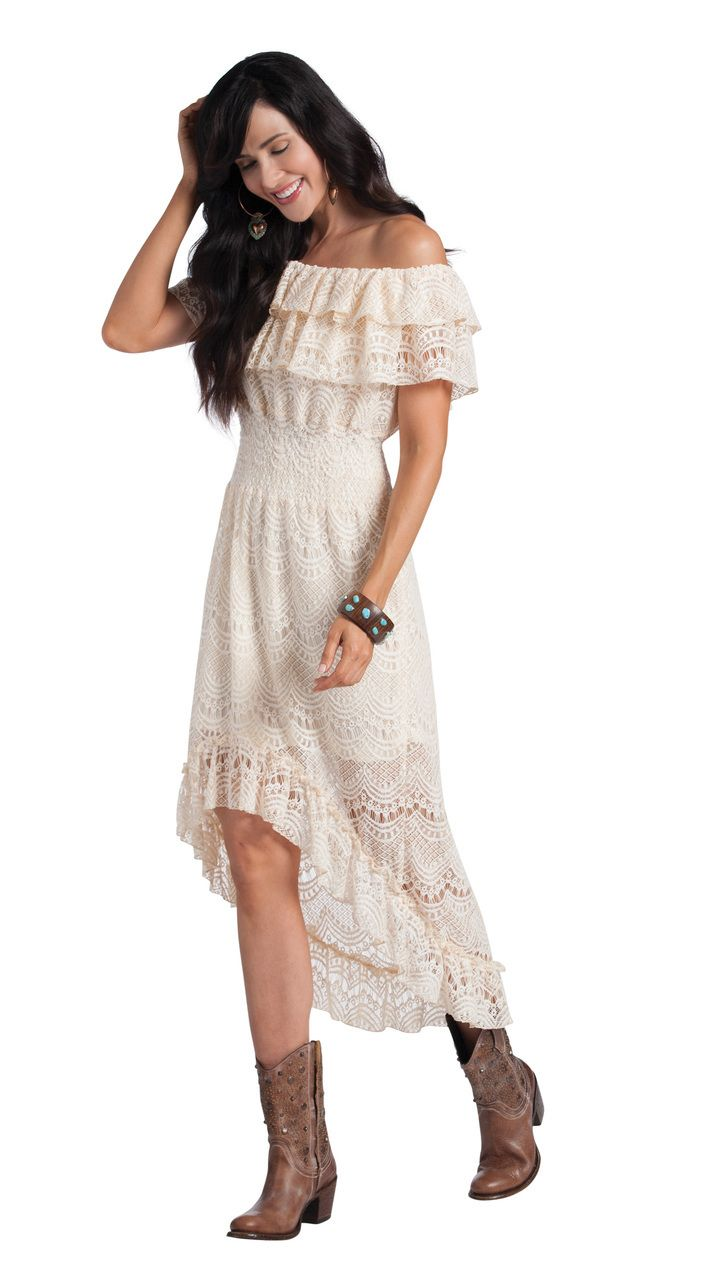 Pin by Darlajean Moore on cowgirl Dresses  High low lace dress Dresses Western lace dresses