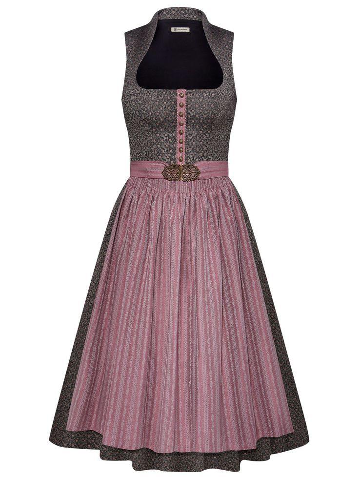Gottseidank Marei Mzg 2222 Grau Braunes Dirndl Mit Altrosa Schurze Via Limberry De Designer Kurti Patterns Vest Outfits For Women Blouses For Women