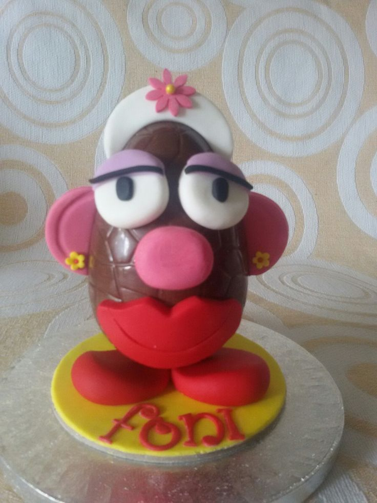 Chocolate Easter egg....Mrs. Potato Head!!!