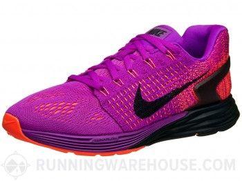 online retailer 7c026 48fd3 ... get purple nike lunarglide 7 nike lunarglide 7 womens shoes purple  orange pink fe9ca 990dd