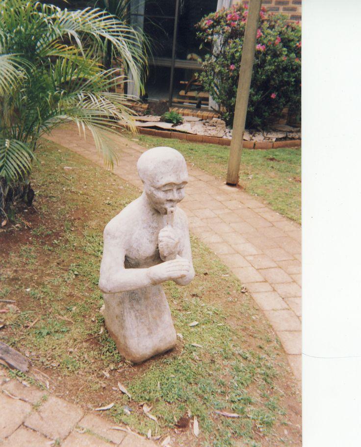silence...Cement Fondue Statue