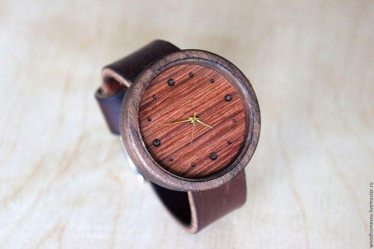 Купить Наручные часы из дерева (орех) - комбинированный, орех, пачули, часы, часы ручной работы