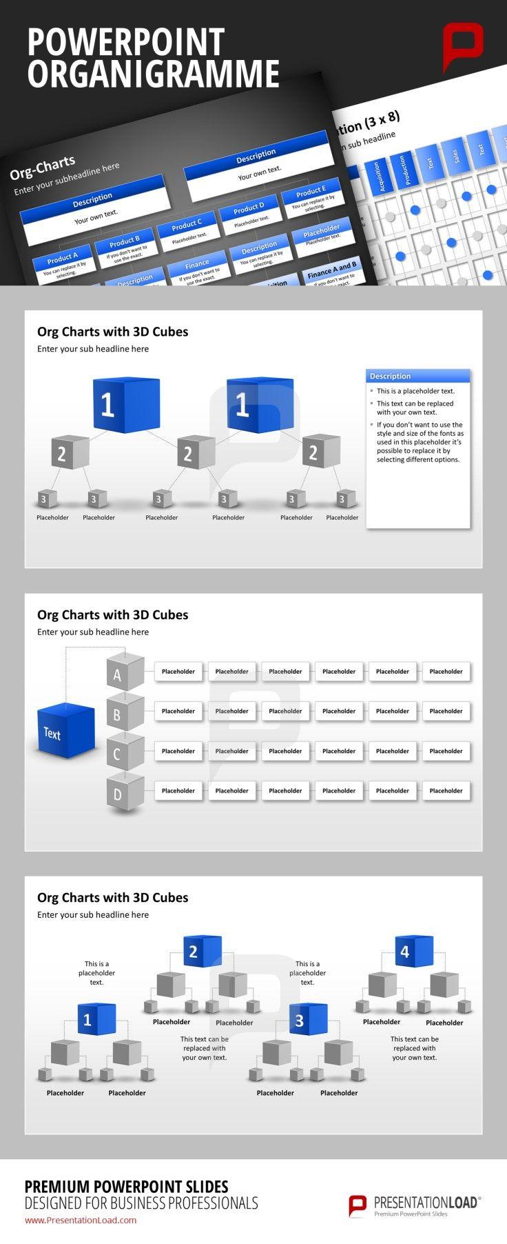 PowerPoint Organigramme, nicht aufwendig erstellen, einfach herunterladen bei PresentationLoad http://www.presentationload.de/powerpoint-charts-diagramme/organigramme/