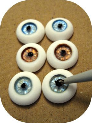 ...Make It With Me: How to Make FIMO Clay Eyes For The Pin Up Ghoul