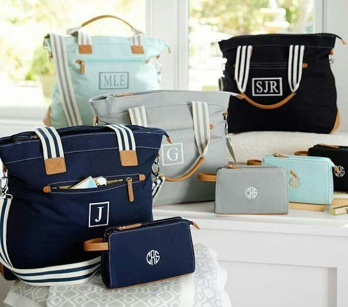 Love these pottery barn diaper bags