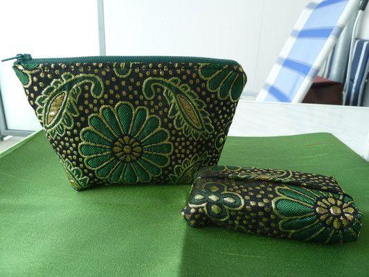 Brokat Set in grün