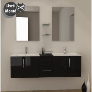 25 best ideas about vasque noire on pinterest vasque lavabo salles de bai - Meuble double vasque ...