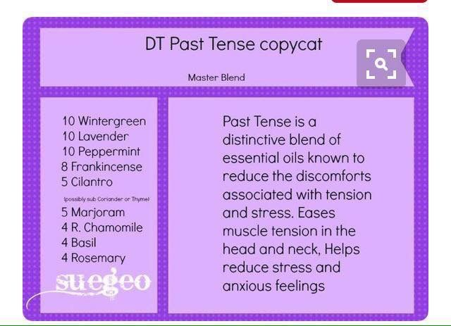 DoTerra's Past Tense Copy Cat Roller Ball Recipe