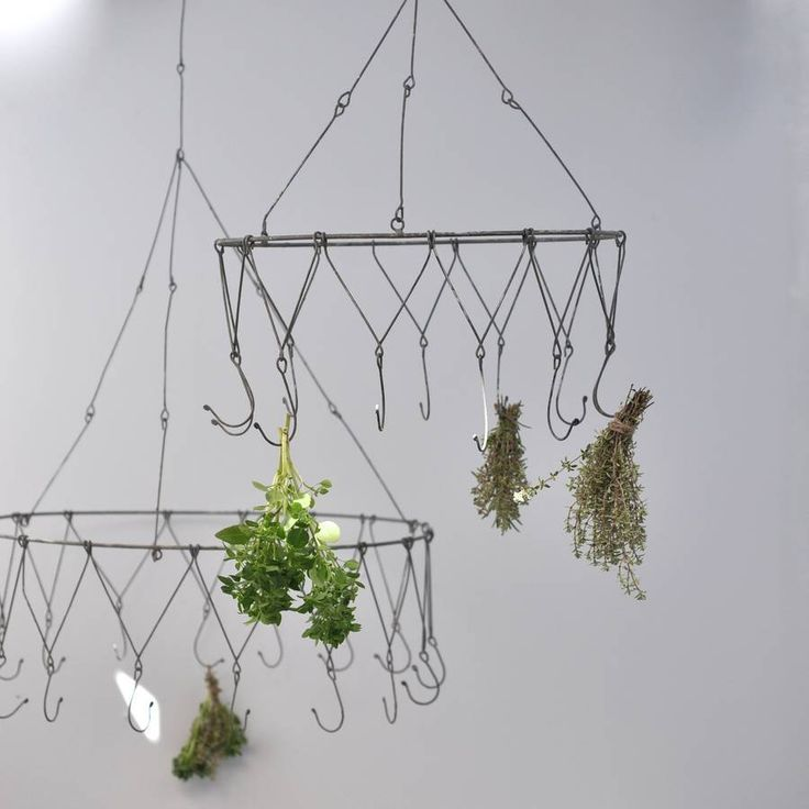 herb drying rack chandelier by henry's future | notonthehighstreet.com