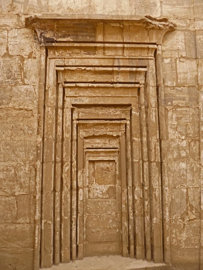 The seven gates - in the Temple of Osiris Hek-Djet at Karnak  http://www.pinterest.com/kerrypym59/egypt-history/