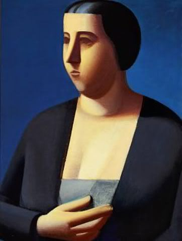Vilhelm Lundstrøm: Portrait of Anny Nissen. The artist's sister. Signed on the reverse VL 32. Oil on canvas. 132 x 98 cm.