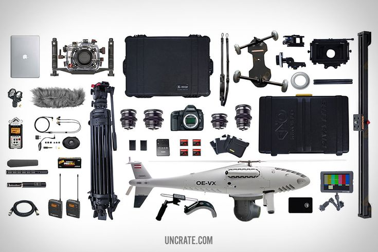 ESSENTIALS: MOVIE MAKER - MacBook Air. Rode Shock Mount. Zoom 8-Piece Recorder Bundle.Sennheiser ME66, Sennheiser K6 Powering Module and Mic Windscreen Bundle.GLS Audio Mic Cable Patch Cords. Ikelite Underwater Camera Housing. Sennheiser Windsock. Shure High-Definition MicroDriver Earphone.Duracell Procell AA Batteries. Sennheiser Wireless Lavalier Microphone System. Sachtler Telescopic Tripod. Pelican Camera Case. Zeiss 85mm Lens... Click image to see entire list and pricing.