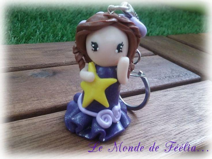 Figurine montée en porte-clé : Porte clés par lemondedefeelia