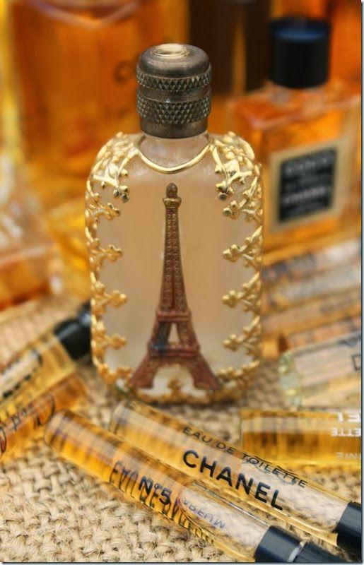 Vintage Eiffel Tower perfume sample bottle....love....