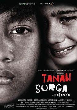 """Click """"Visit"""" button for watching Tanah Surga...Katanya (2012) streaming movie online at Layar Perak, the best streaming movie online for free and forever"""