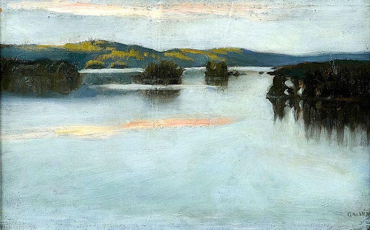 AKSELI GALLEN-KALLELA Evening over the Lake.