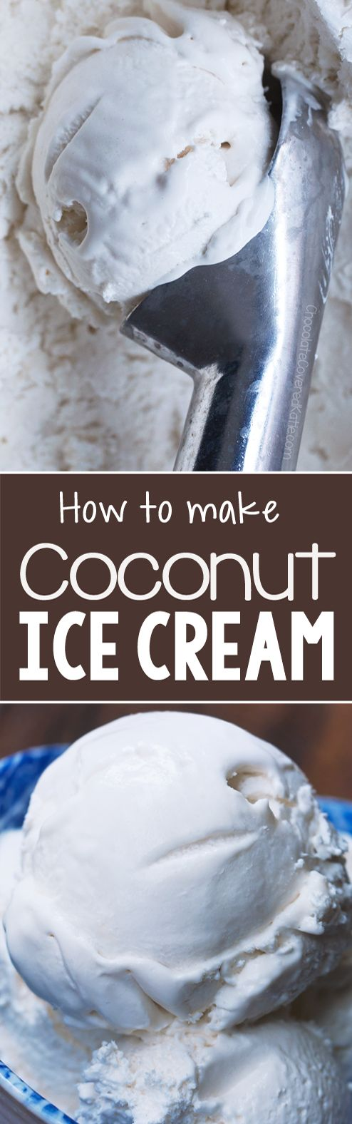 You will be amazed that this works when you see the ingredients in this coconut ice cream that's vegan