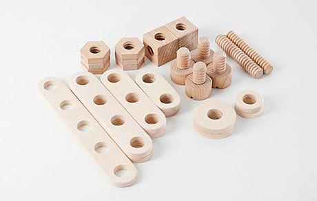 Drewniane klocki konstrukcyjne | klocki konstrukcyjne dla dzieci