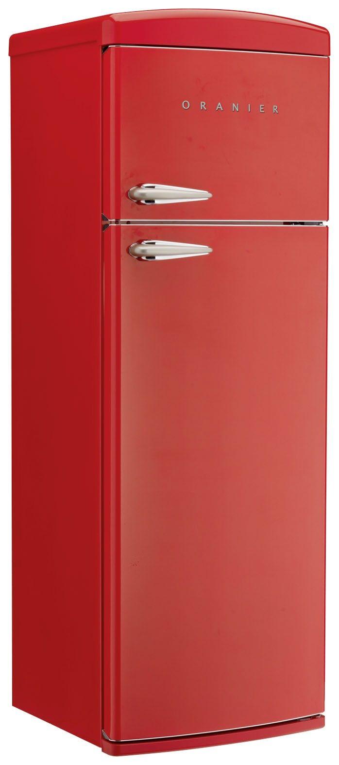 Stand-Kühl-Gefrier-Kombination RKG 2 - Rot (Oranier fridge - also avail in creme)