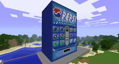 Cool Minecraft Creations: Pepsi Soda Machine Have to find the video for this. http://www.minecraftwiz.com