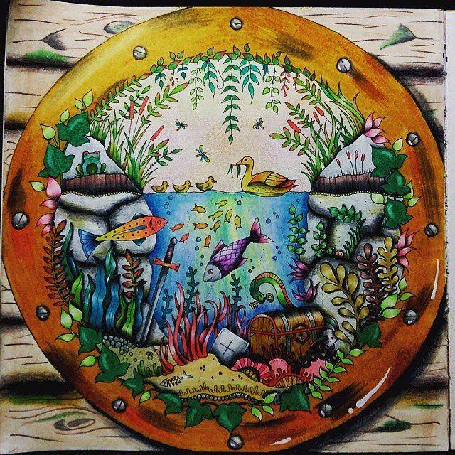 OMG lindíssimo o desenho do #jardimsecreto colorido pela @bruna.galves. Adorei! ------------------------------------------------#nossojardimsecreto #florestaencantada #viciodecolorir #johannabasford #editorasextante #jardimsecretofans #secretgarden #inspiration #arteterapia #fabercastell #lapisdecor