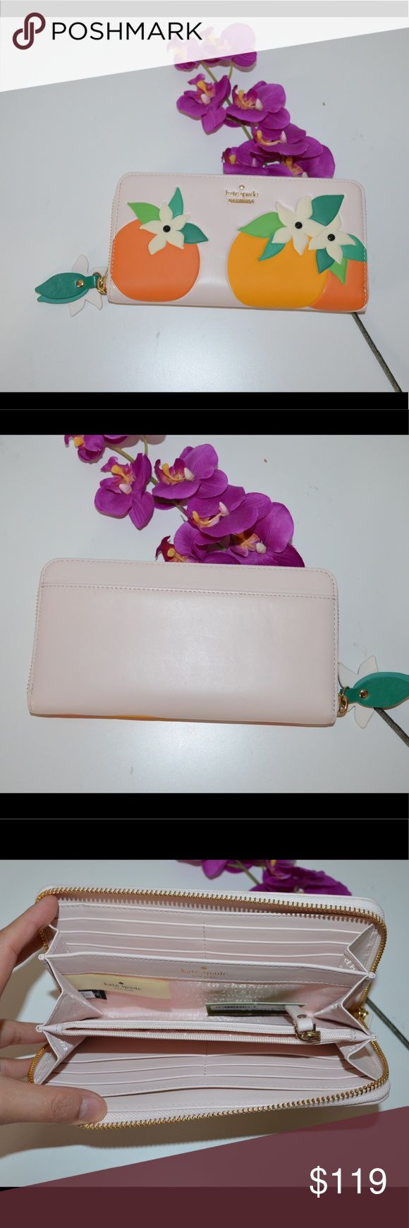 New Kate Spade orange blossom Lacey wallet Brand new with tag, never used. It is from retail style. kate spade Bags Wallets