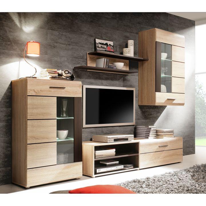 Obývací stěna PRESLI - KOMBINO | Nábytek ATAN | Obývací pokoje