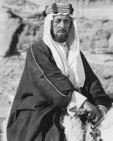 Lawrence of Arabia.  Alec Guinness (as an Arab Sheik)
