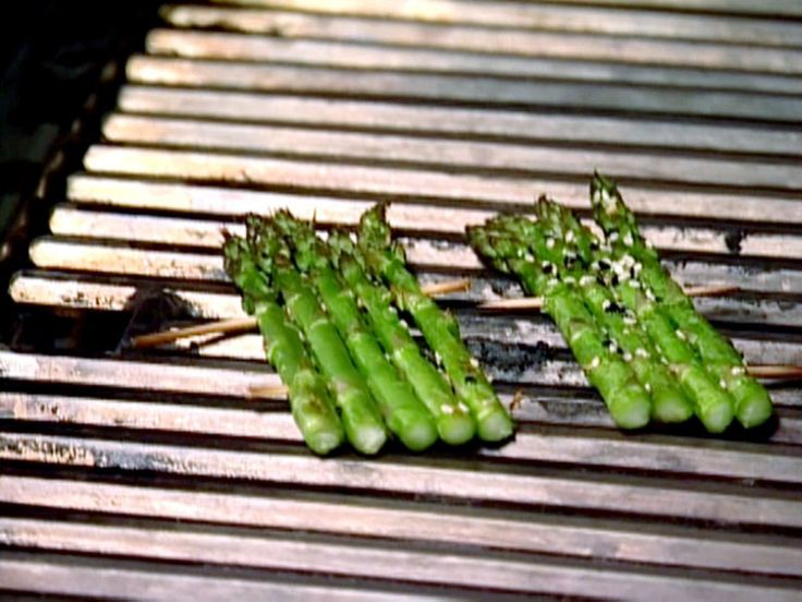 Sesame Grilled Asparagus recipe from BBQ with Bobby Flay via Food Network