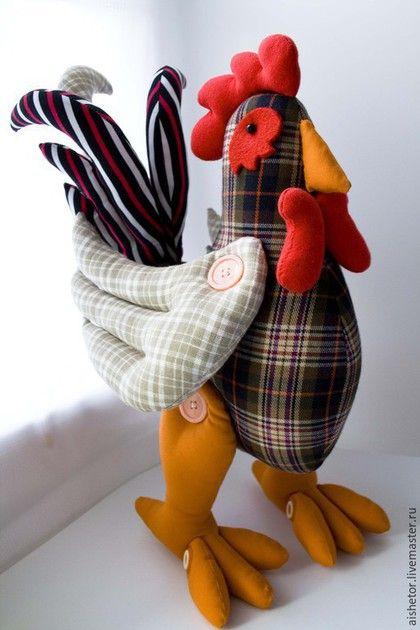 Игрушки животные, ручной работы. Ярмарка Мастеров - ручная работа. Купить Петух Ромка игрушка текстильная. Handmade. Разноцветный